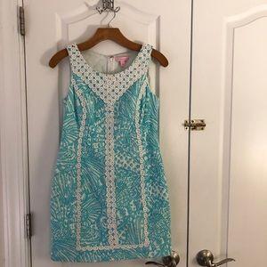 Lilly Pulitzer Shift Dress Aqua